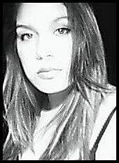 black and white photo black and white head shot of shyanne sinclair