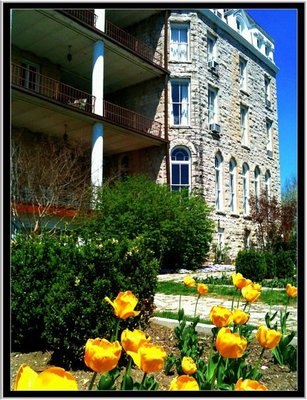 The beautiful Crescent. The Crescent hotel in Eureka Springs, Ark.