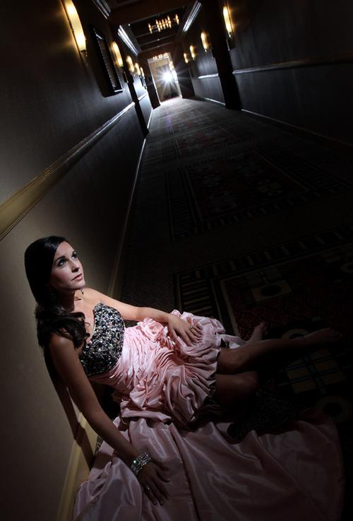Dina in the hall Dina photographed on location at the IP Resort and Casino in Biloxi, MS
